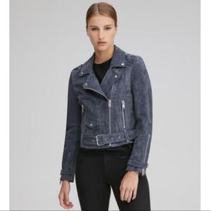 Andrew Marc Marc New York Bowery Suede Moto Jacket